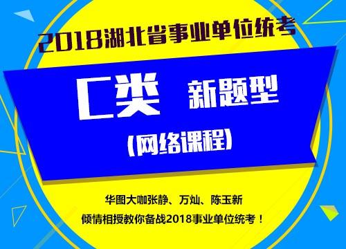 2018湖北省事业单位统考C类(新题型)网络课程
