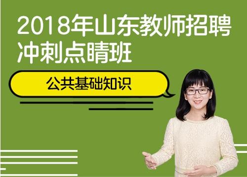 2018年山东教师招聘冲刺点睛班(公共基础知识)