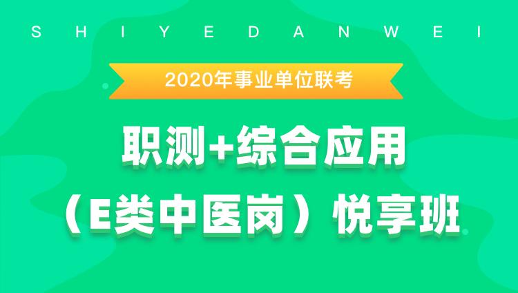 2020年事业单位联考《职测+综合应用(E类中医岗)》悦享班