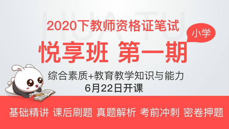 【小学-综合素质+教育教学知识与能力】2020下教师资格证悦享班·第一期