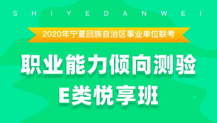 2020年宁夏回族自治区事业单位联考职业能力倾向测试E类  悦享班
