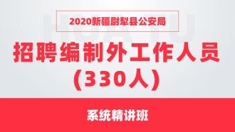 2020新疆尉犁县公安局 招聘编制外工作人员(330人) 系统精讲班