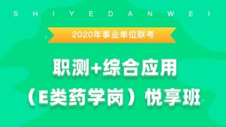2020年事业单位联考《职测+综合应用(E类药学岗)》悦享班