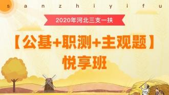 2020年三支一扶河北【公基+职测+主观题】悦享班