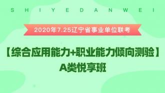 2020年7.25辽宁省事业单位联考《综合应用能力+职业能力倾向测验》 A类悦享班