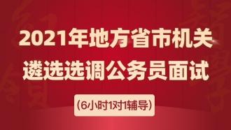 2021年省市地方机关遴选选调公务员面试1对1辅导班