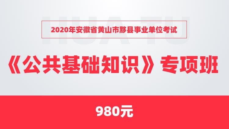 2020年安徽省黄山市黟县事业单位考试《公共基础知识》专项班