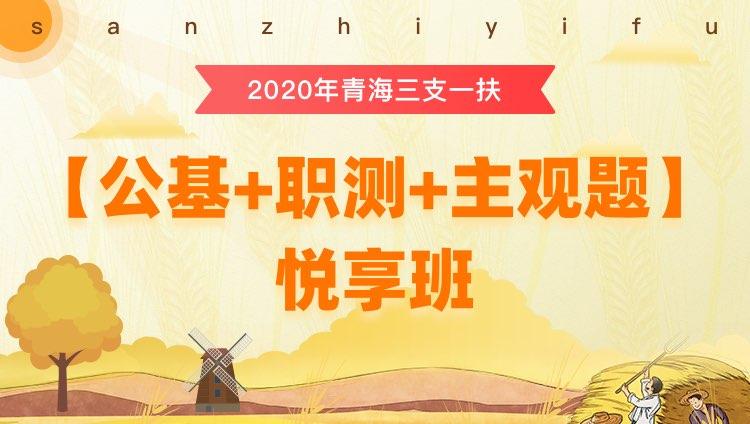 2020年三支一扶青海【综合知识和能力素质测试】悦享班