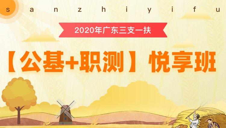 2020年三支一扶广东【公基+职测】悦享班