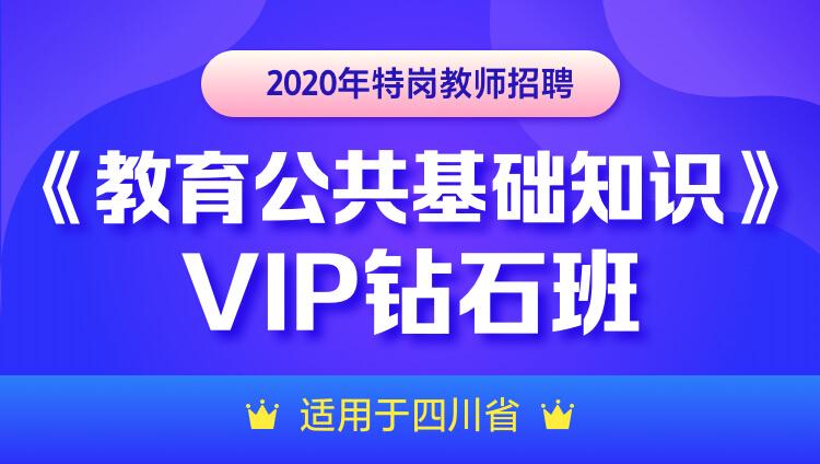 【四川】2020年特岗教师招聘 《教育公共基础知识》 VIP钻石班