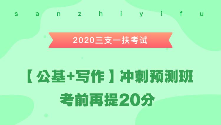 2020三支一扶考试《公共基础知识+写作》冲刺预测班