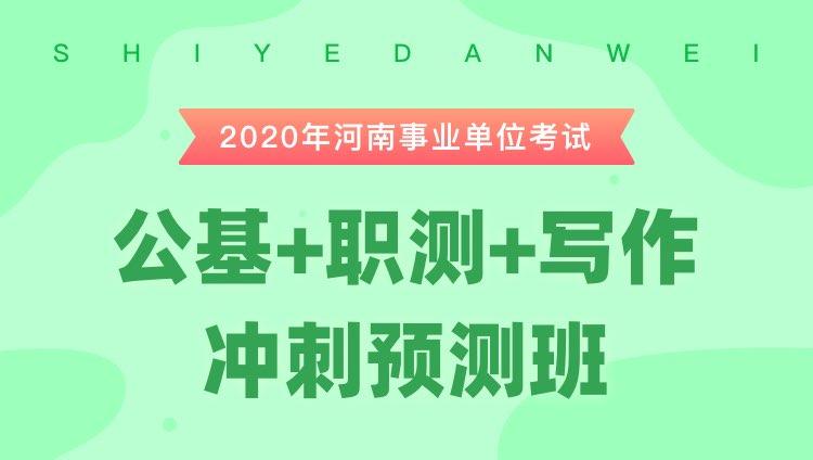 2020河南事业单位考试《公基+职测+写作》冲刺预测班