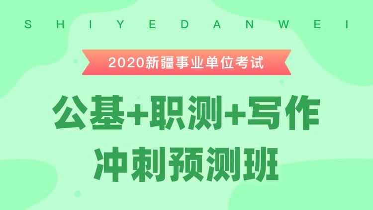 2020新疆事业单位考试《公基+职测+主观题》冲刺预测班