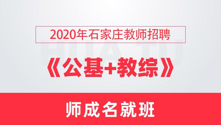 【石家庄】2020教师招聘笔试《公基+教综》师成名就班