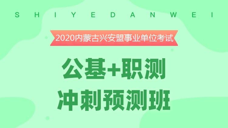 2020内蒙古兴安盟事业单位考试《公基+职测》冲刺预测班