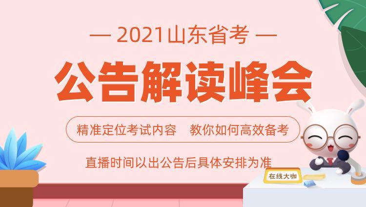 2021山东省考公告解读峰会