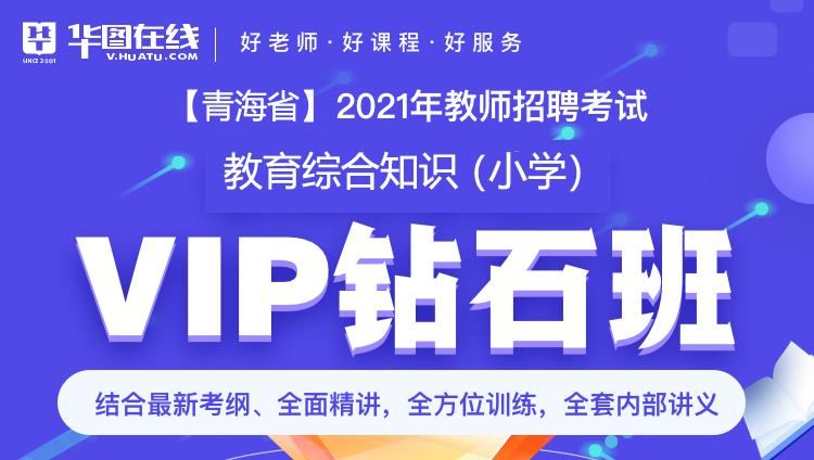 【青海-教综】2021年教招笔试VIP钻石班(小学通用)