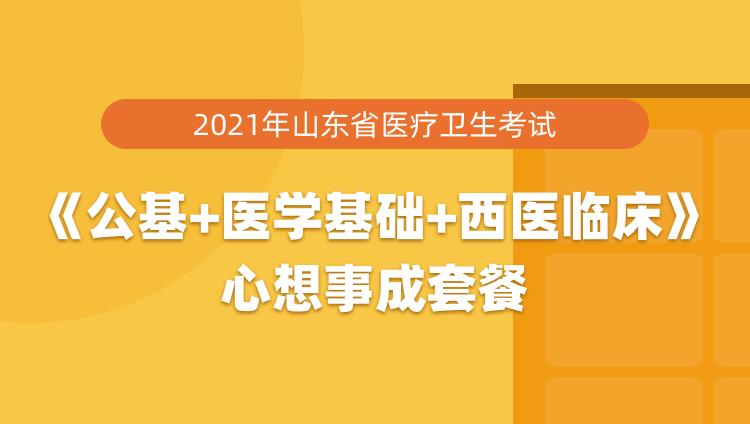 2021年山东省聊城莘县医疗卫生考试《公共基础知识+医学基础+西医临床》心想事成套餐
